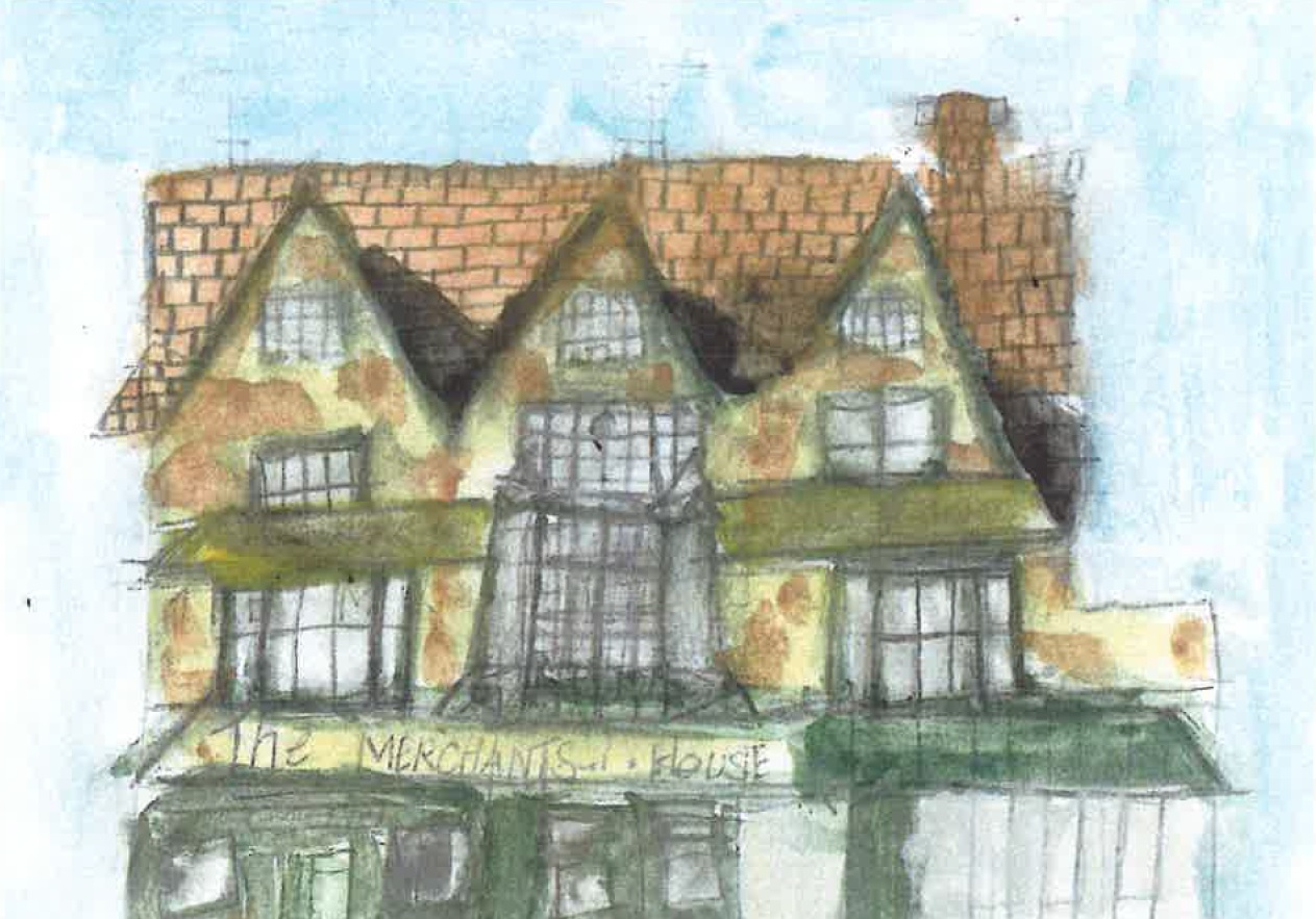 merchants house painting by Emily